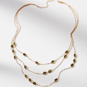 HTF NWT ANTHROPOLOGIE Layered Bristol Necklace